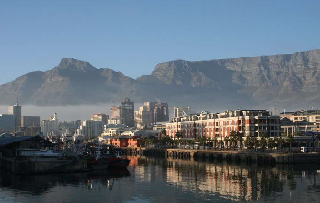 The stunning architecture of Cape Town, with the Victoria and Alfred Waterfront as its centerpiece, basks underneath Table Mountain.