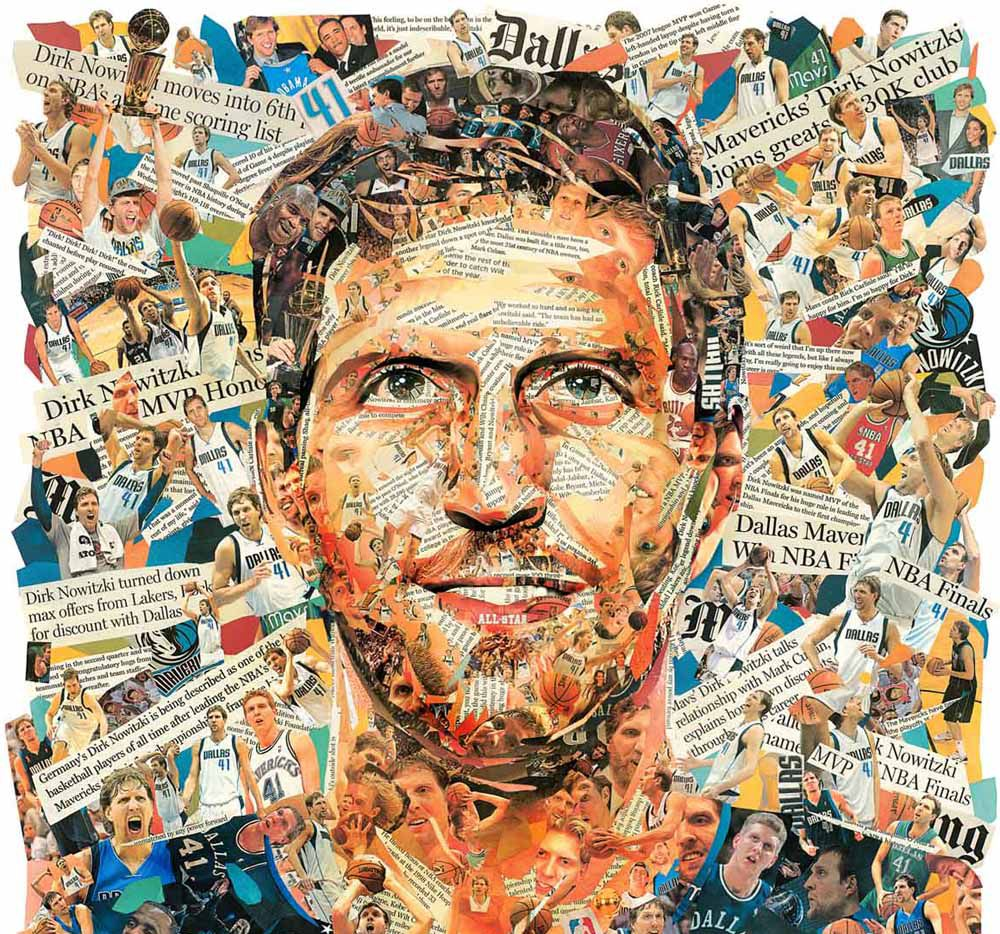 This illustration by The News' Michael Hogue will lead a special Sunday Section commemorating the career of Dirk Nowitzki on April 14.