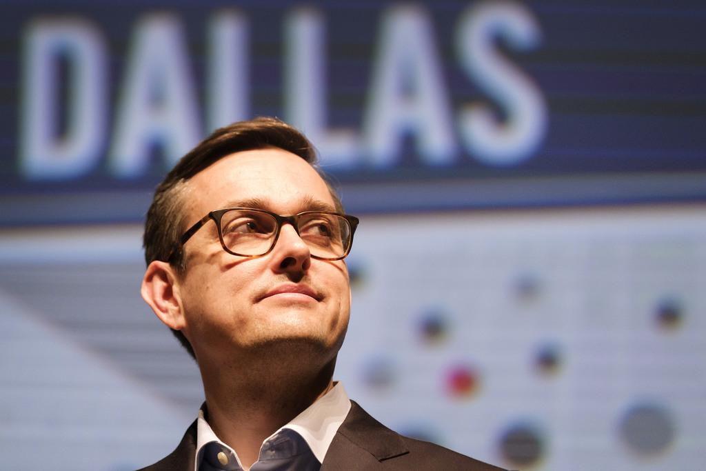 El concejal Scott Griggs durante su participación en uno de los debates para la alcaldía. (DMN/SMILEY POOL)
