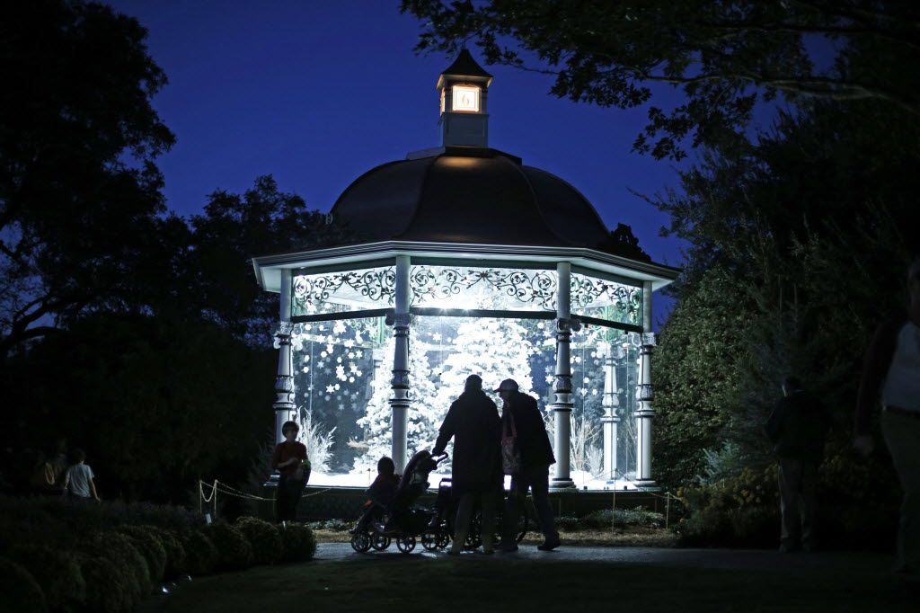 "The Dallas Arboretum's ""12 Days of Christmas"" exhibit of a dozen gazebos opens Nov. 9."