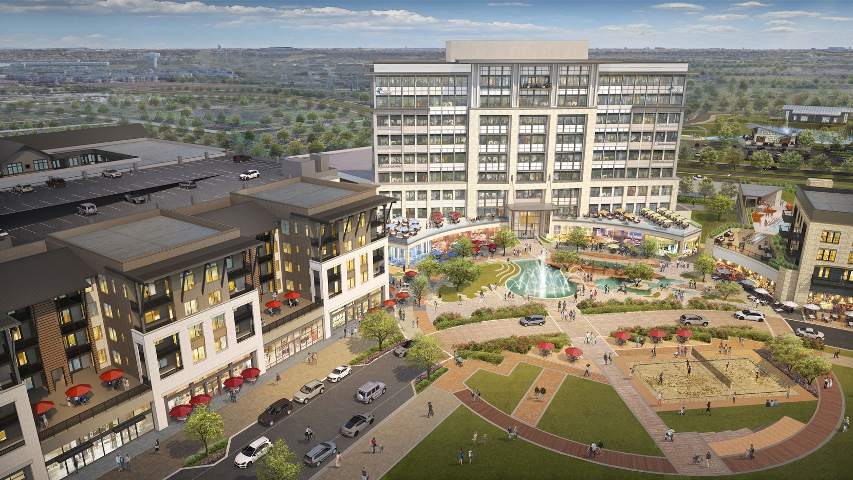 The 324-acre Realm at Castle Hills project will include office, retail, restaurants and apartments built around a public plaza and park.