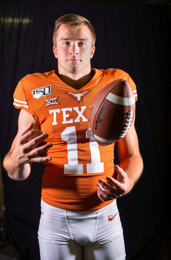 Texas quarterback Sam Ehlinger is pictured above on June 14, 2019, in Austin. (Thao Nguyen/Special Contributor)