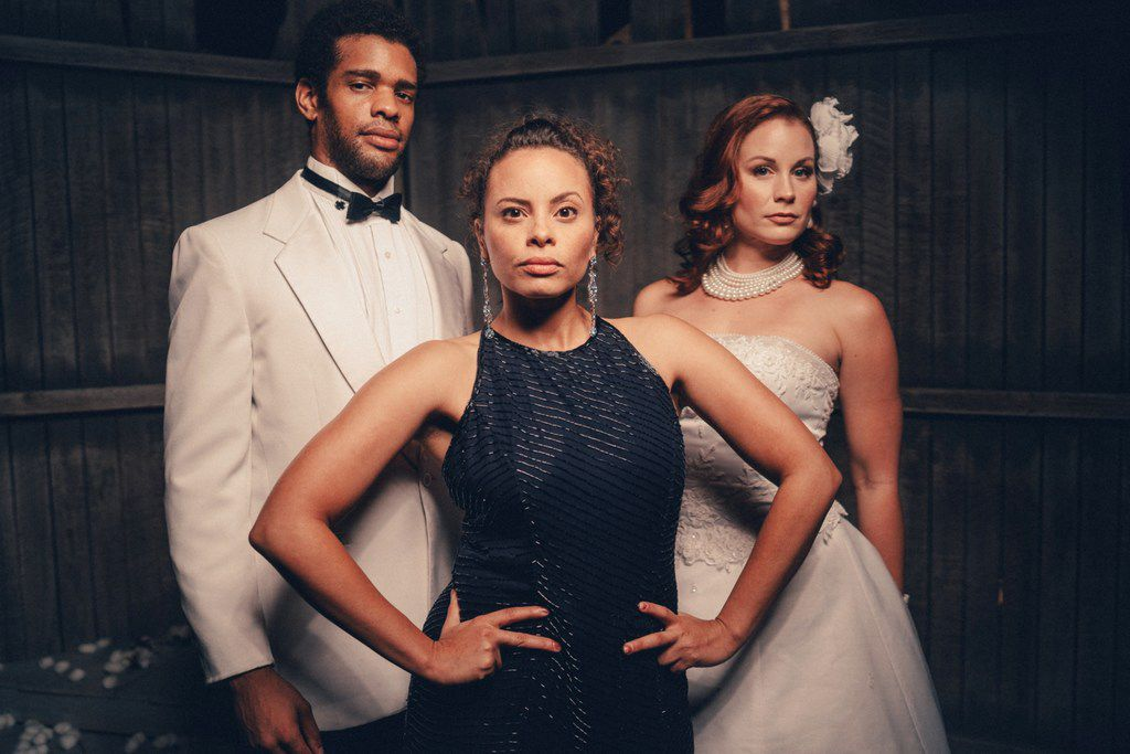 Ryan Woods, Morgana Wilborn and Nikki Cloer in the regional premiere of An Octoroon at Stage West in Fort Worth