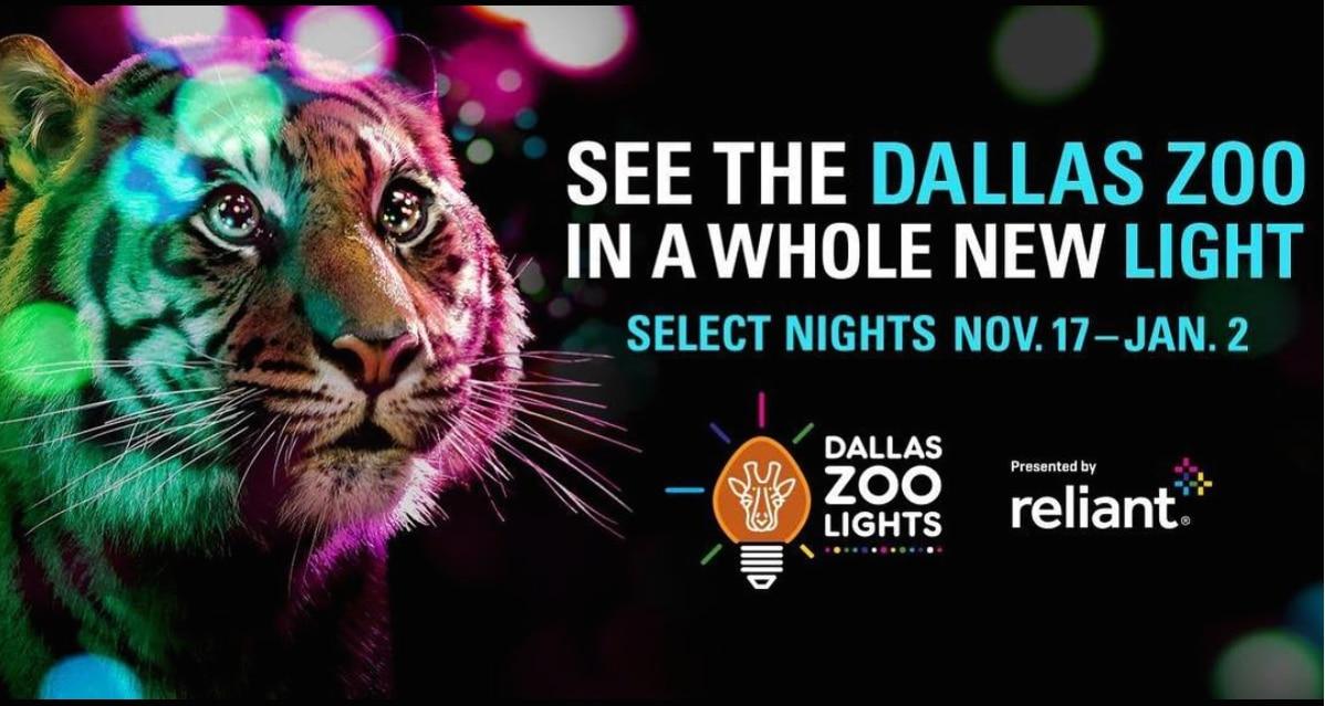 El Dallas Zoo Lights debuta el 17 de noviembre (INSTAGRAM).