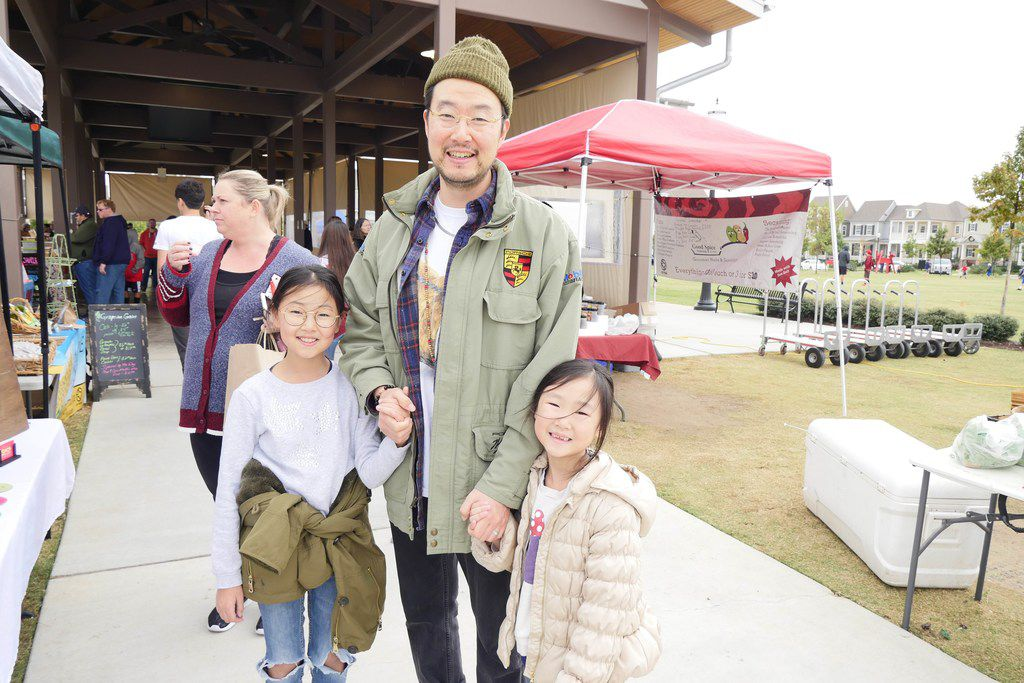 Locally grown is key for Sean Kim. He and his daughters recently moved from California and were exploring the Coppell market for the first time. (Alfonso Cevola/Special Contributor)