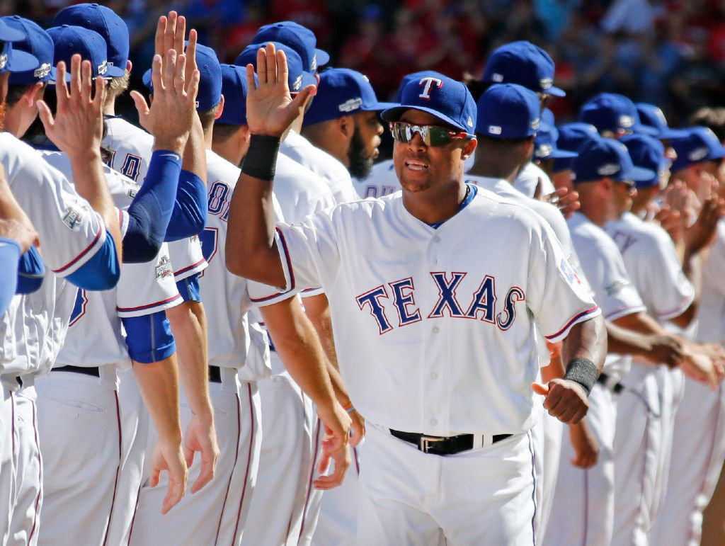 Texas Rangers third baseman Adrian Beltre (29) is pictured during the Toronto Blue Jays vs. the Texas Rangers major league baseball ALDS Game 1 at Globe Life Park in Arlington on Thursday, October 6, 2016. (Louis DeLuca/The Dallas Morning News)