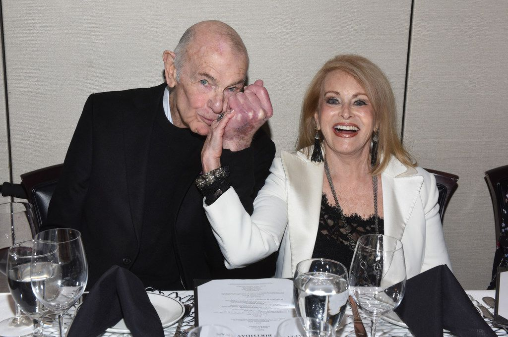 Stan and Barbara Levenson at his 85th birthday party on Dec. 28 at Truluck's on McKinney Avene.