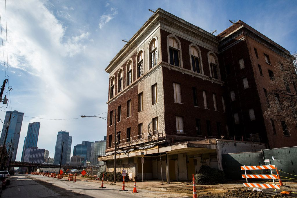 The Knights of Pythias Temple building at Elm Street and Good-Latimer Expressway is being converted into a hotel.