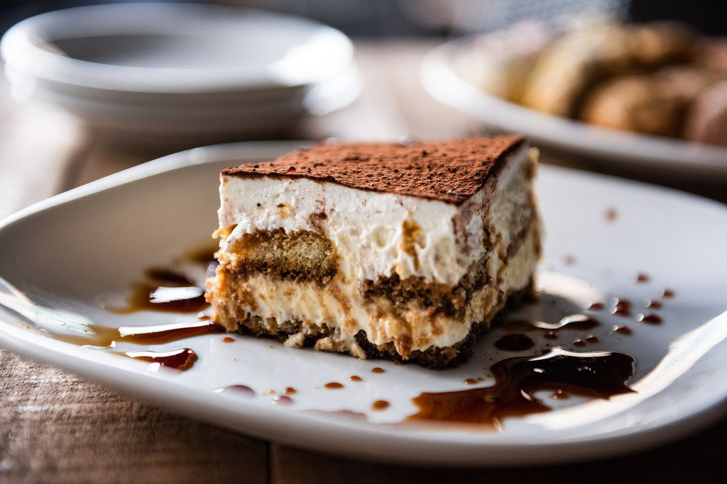 Princi Italia locations will serve three-course Easter brunch for $36 per person. This is tiramisu with layers of lady fingers, mascarpone mousse and leghorn sauce.