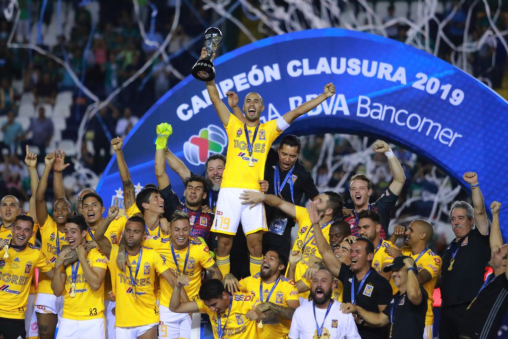 Tigres ganó el Torneo Clausura 2019 de la Liga MX el domingo, en León, México. (Photo by Manuel Velasquez/Getty Images)