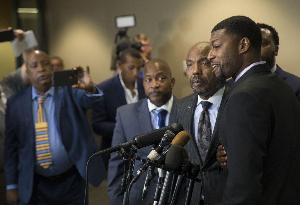 Odell Edwards, father of Jordan Edwards,  addressed the media Tuesday at the Frank Crowley Criminal Courthouse.
