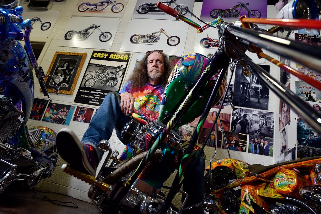 Owner Rick Fairless of Strokers Dallas with one of his custom Choppers named Susie, inside his shop at Strokers Dallas, Saturday afternoon, June 16, 2018. Ben Torres/Special Contributor