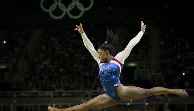 Simone Blies durante sus presenaciones en las competencias de las Olimpiadas de Río 2016 (Smiley N. Pool/The Dallas Morning News)