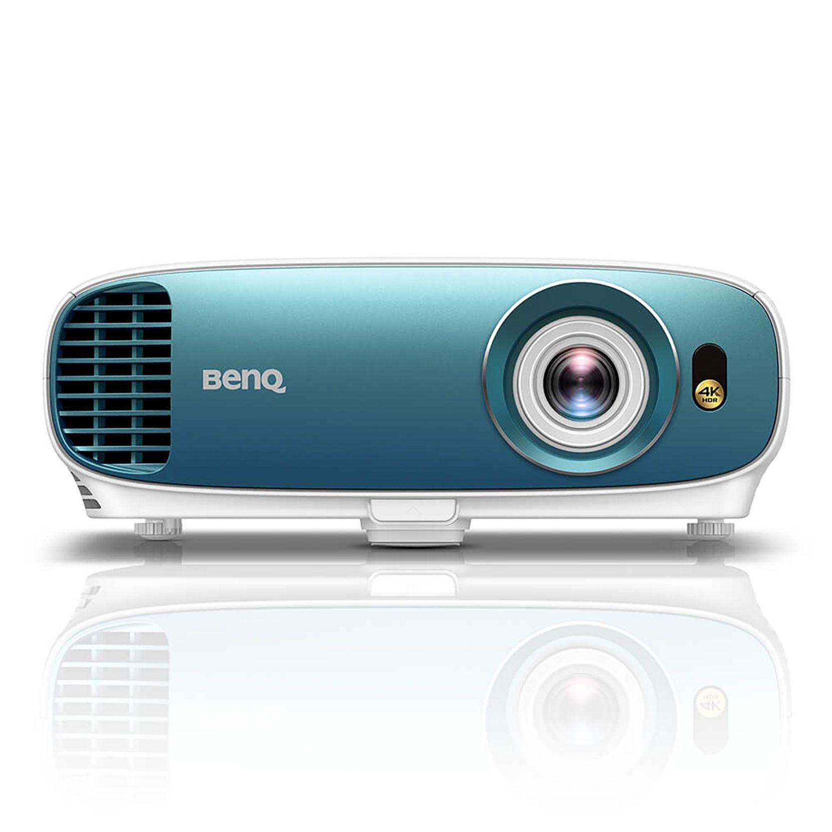 The Benq TK800 4K HDR projector has a signature blue front bezel.