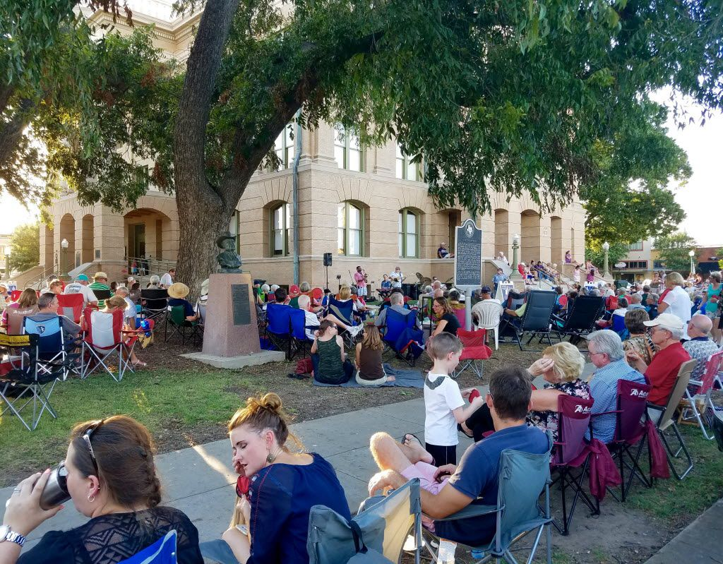 On an August Friday night, hundreds gather on the lawn of the Williamson County Courthouse in Georgetown to hear a jazz combo play, despite the heat.