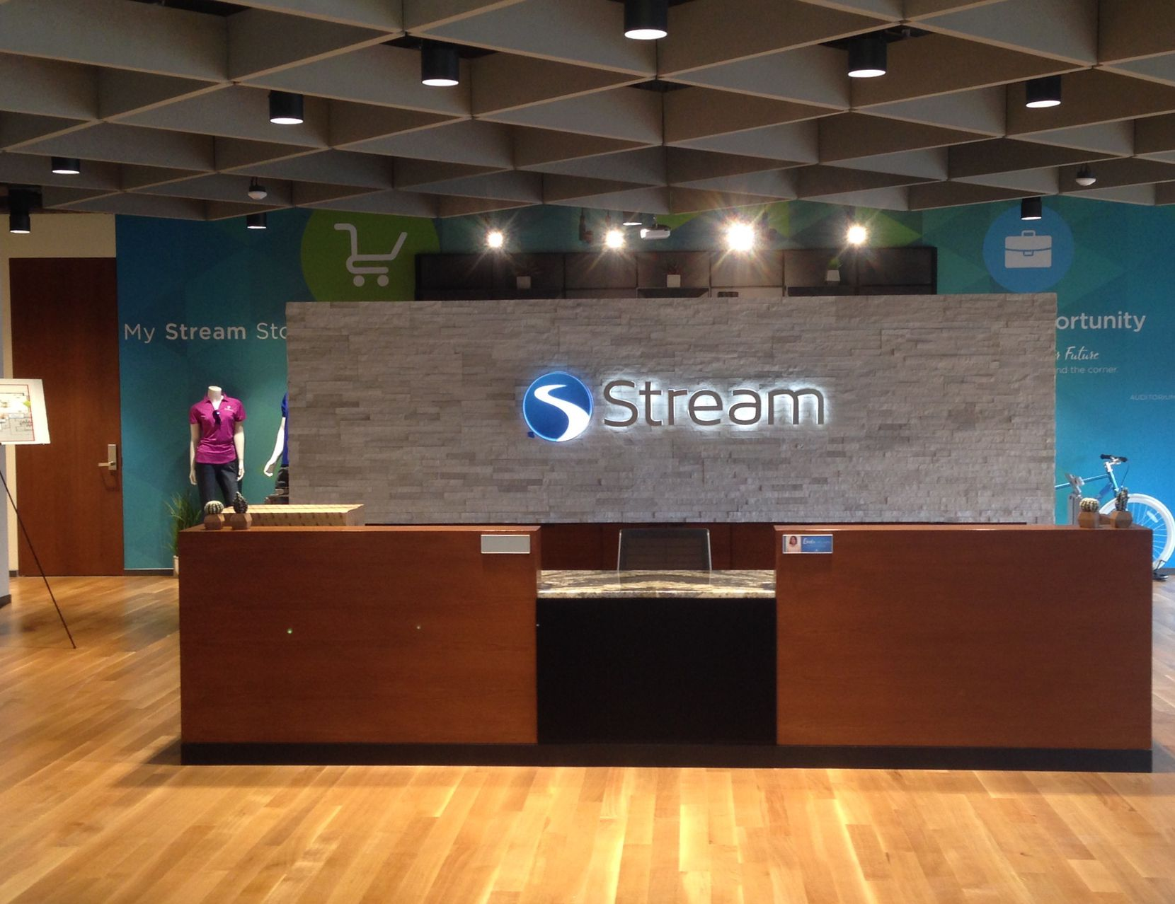 Stream Energy's offices are right off the lobby in the Addison office building.