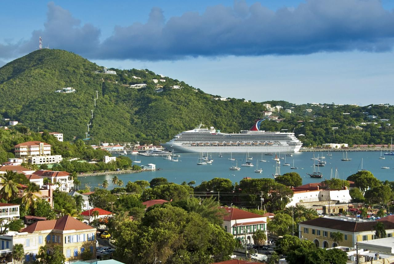 Dodging cruise ships in the Caribbean