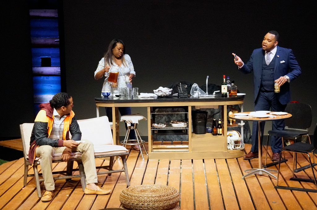 From left: Djore Nance, Stormi Demerson and Calvin Scott Roberts in the premiere of Regina Taylor's Bread, a contemporary play set in Oak Cliff, presented by WaterTower Theatre at the Addison Theatre Centre in Addison.