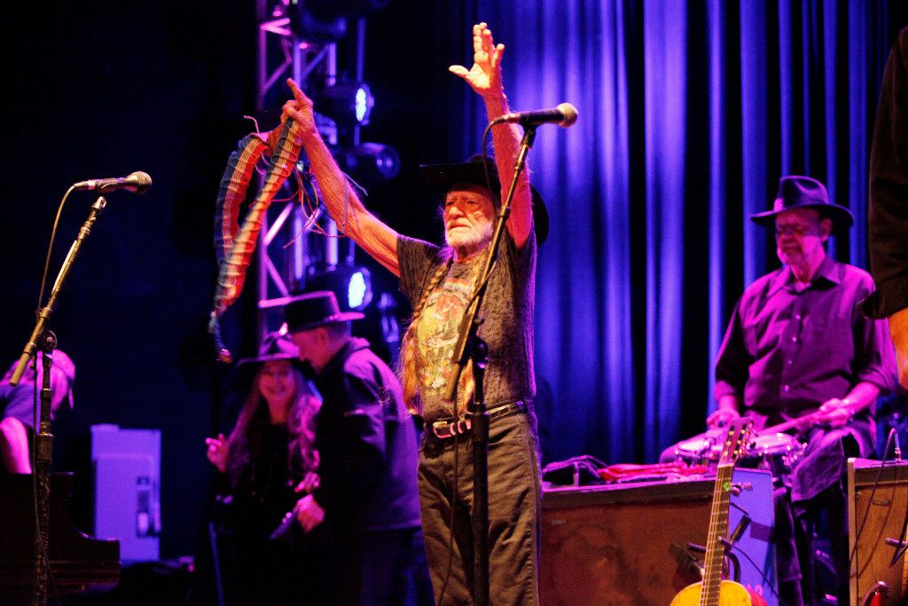 Willie Nelson and Family are welcomed on stage at the Granada Theater in Dallas on Jan. 03, 2017.
