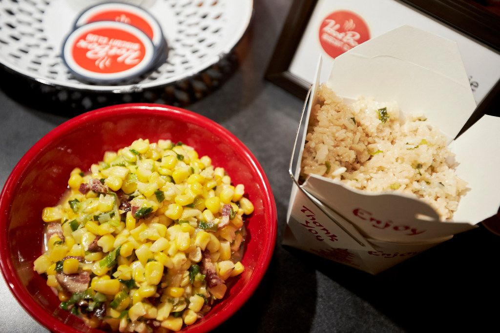 Chicken fried rice with Miso Corny at pop-up brunch held by Hot Box Biscuits Club at Tokyo Cafe.