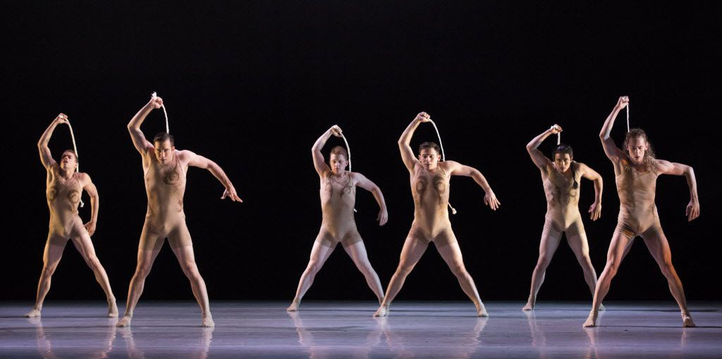 Dancers perform in Skin, choreographed by Andy and Dionne Noble, during a dress rehearsal of the show Six by the Bruce Wood Dance Project on Friday, June 17, 2016 at Dallas City Performance Hall in downtown Dallas.  (Ashley Landis/The Dallas Morning News)