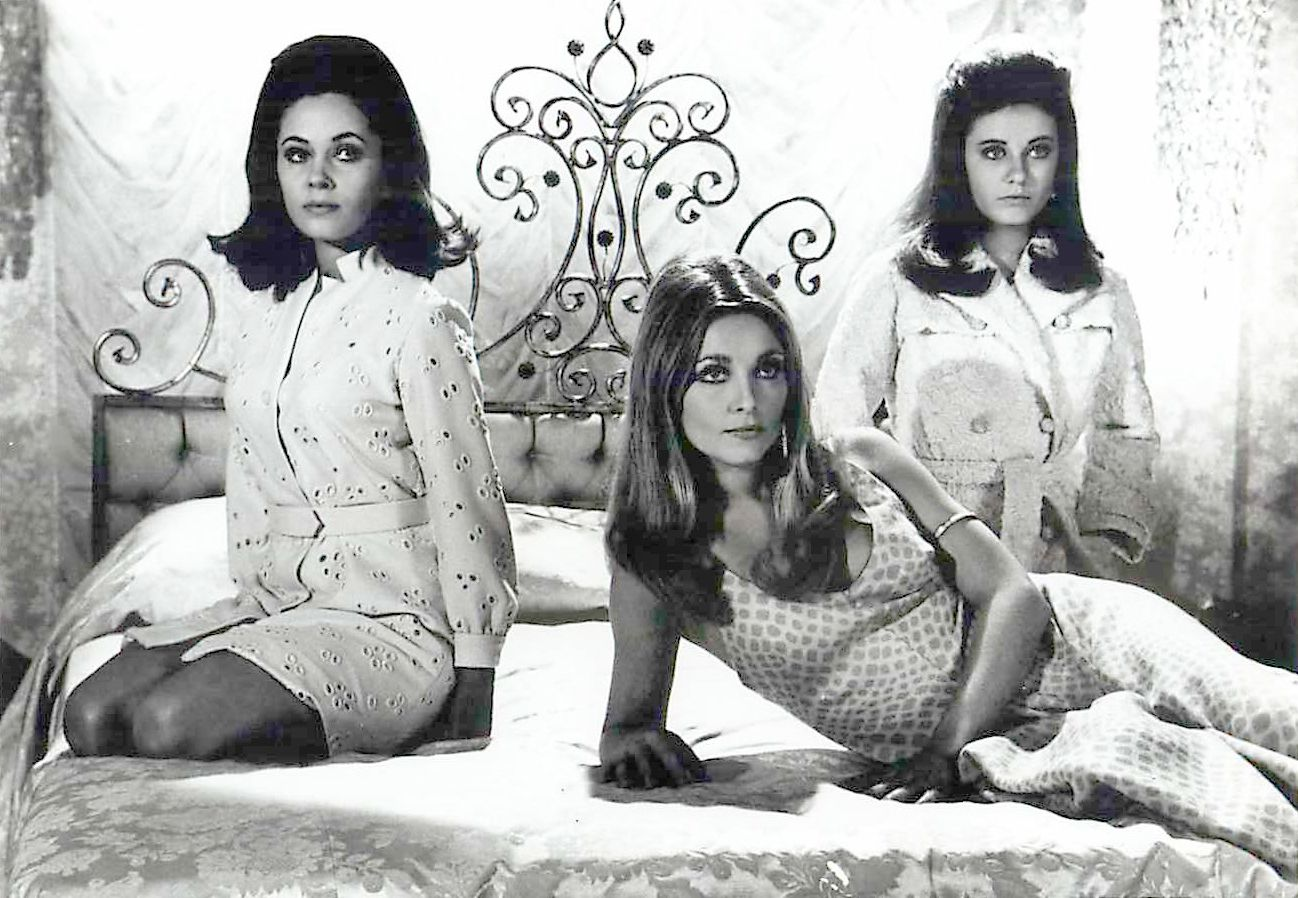 Valley of the Dolls promtional still from 20th Century Fox in 1967 features Barbara Parkins, Sharon Tate and Patty Duke