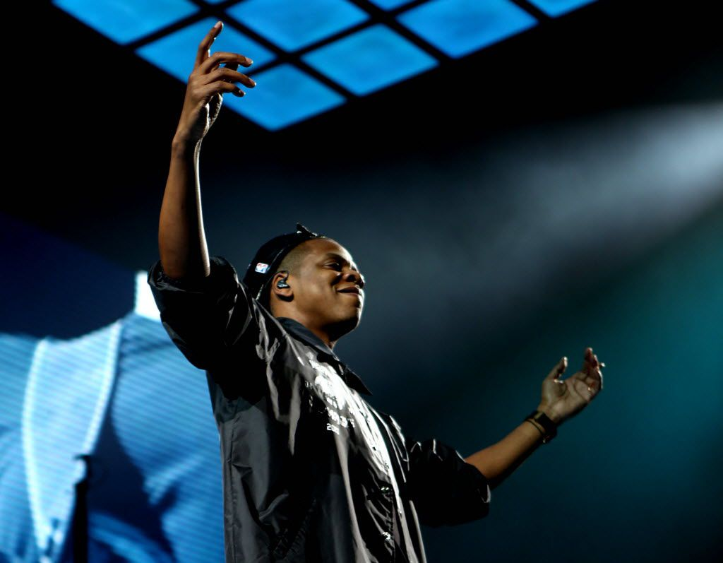 Jay-Z performs on December 22, 2013 at the American Airlines Center in Dallas. (Sarah Hoffman/The Dallas Morning News)