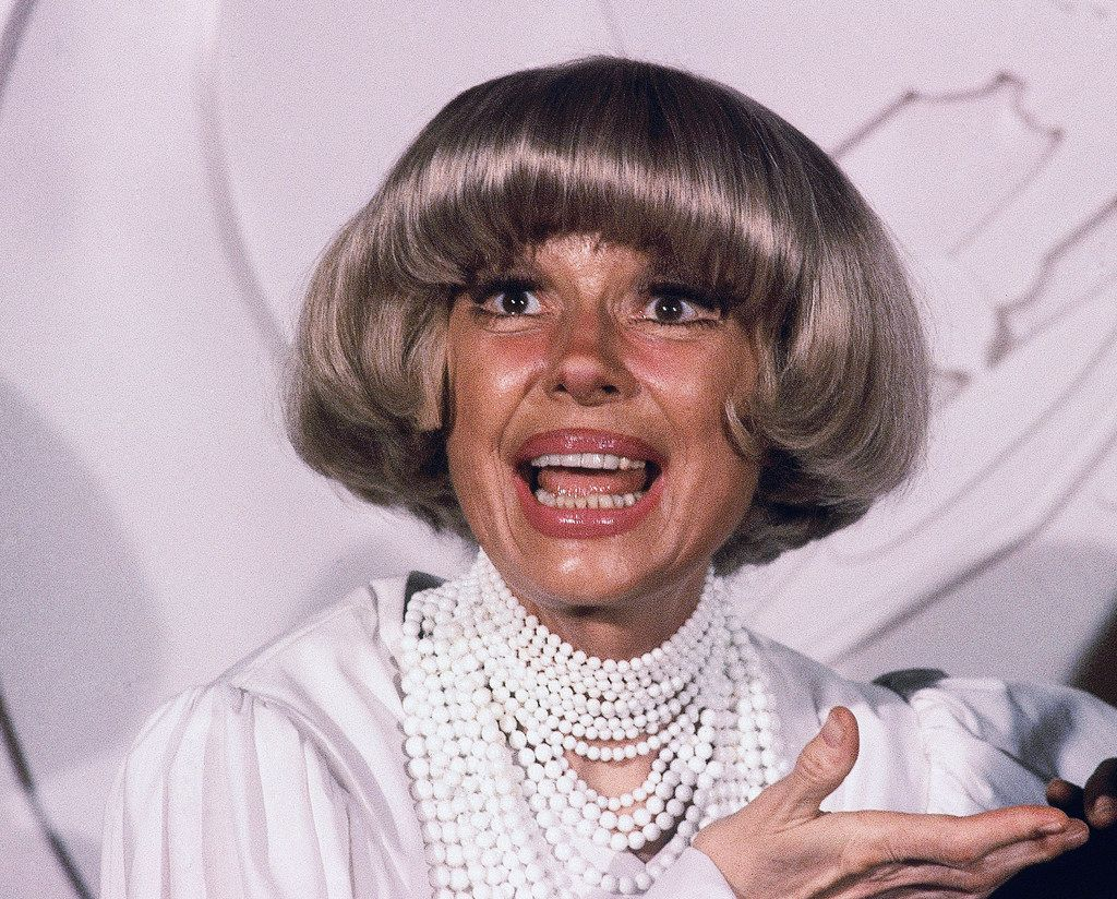 This Feb. 24, 1982, file photo shows actress Carol Channing at the Grammy Awards  in Los Angeles.