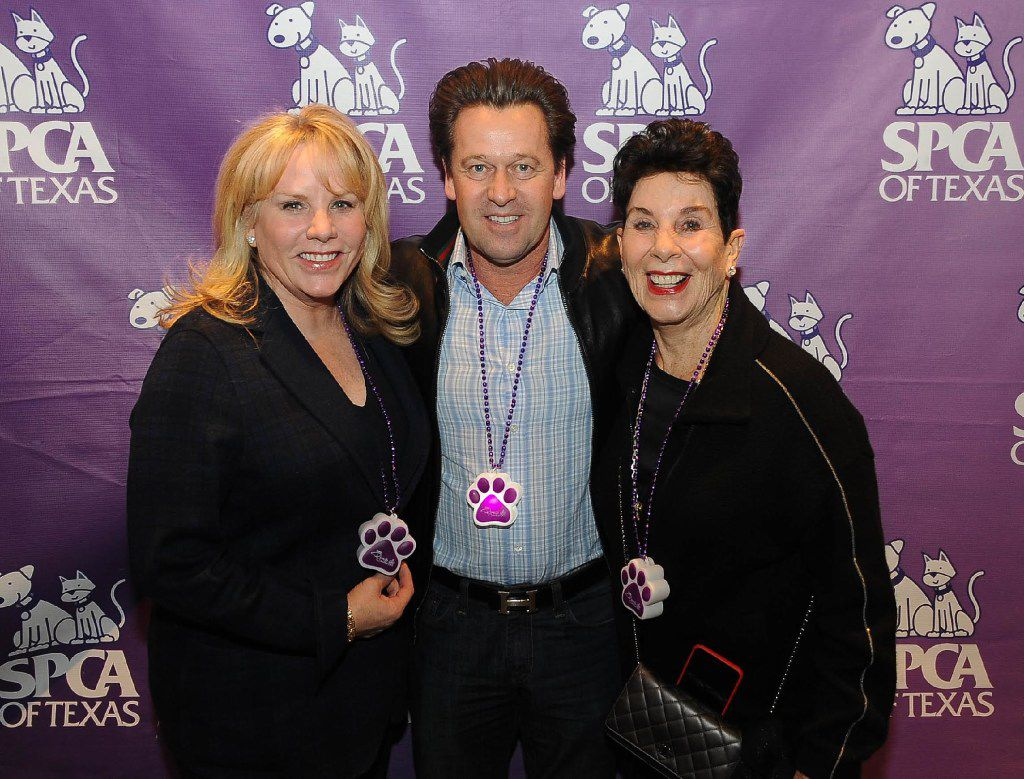 From left: Stacey Snyder Verbeek, Arnie Verbeek and Bobbi Snyder at the Paws Cause party Jan. 29.