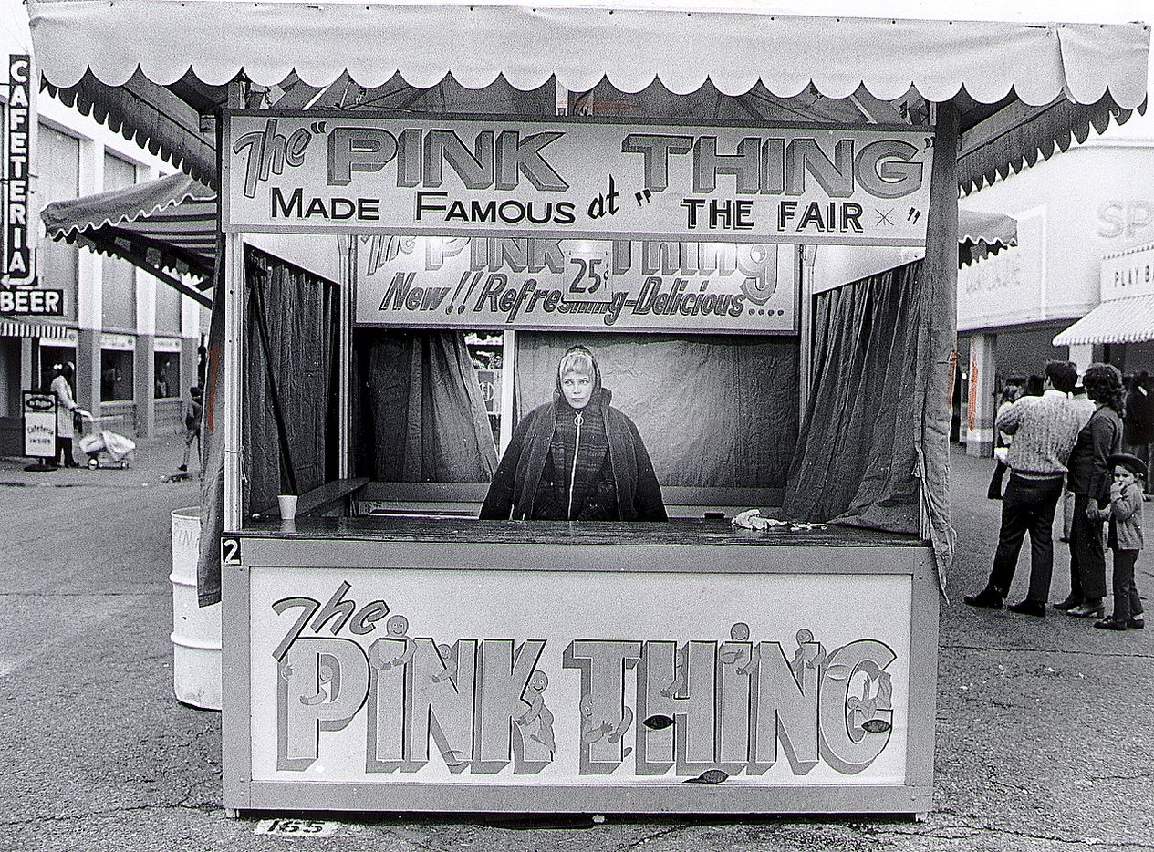"""The frozen """"Pink Thing"""" cost 25 cents at this 1972 concession stand at the State Fair of Texas."""