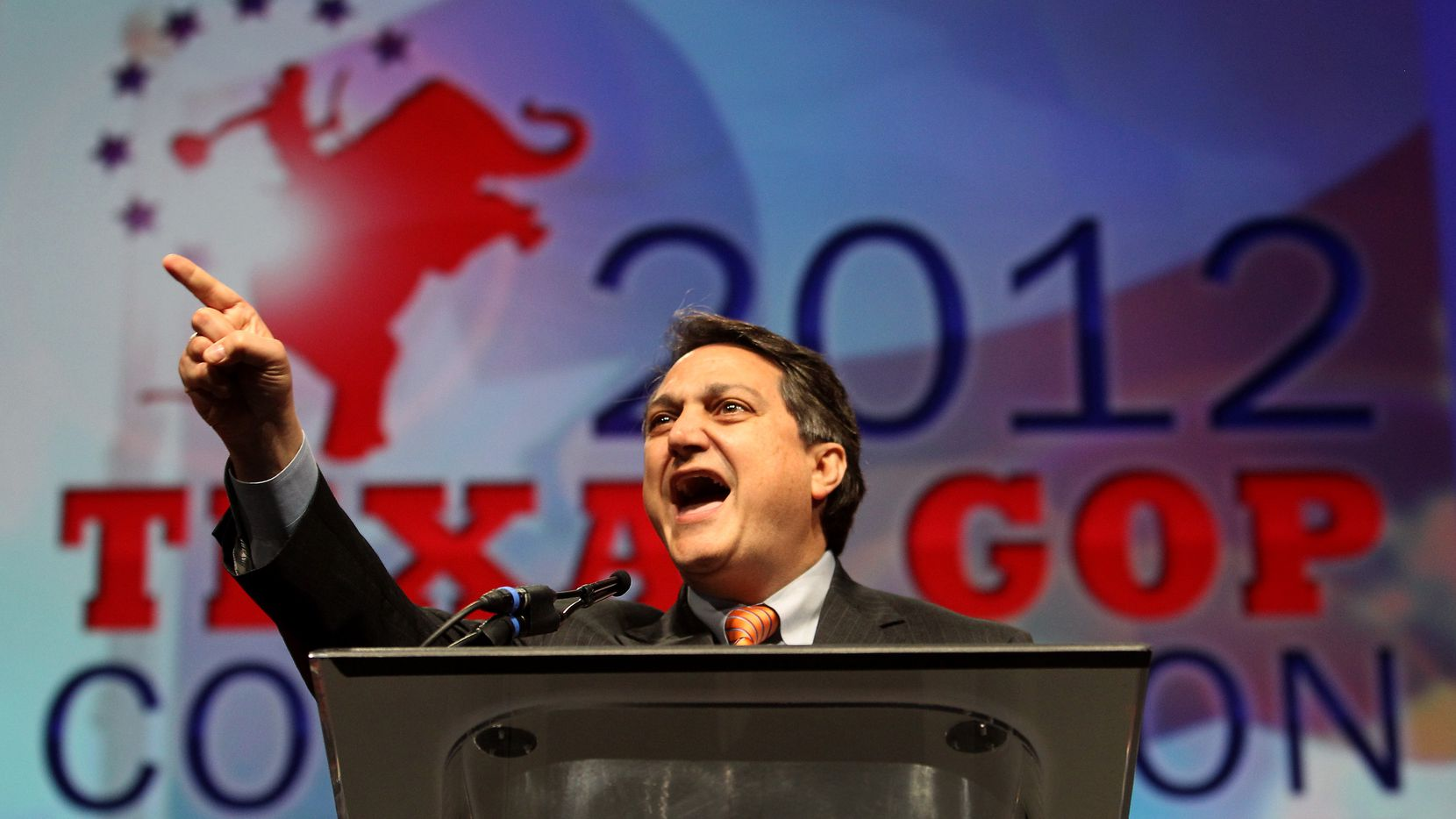 Steve Munisteri, Chairman of the Republican Party of Texas addresses the delegates of the Texas GOP convention in Fort Worth, Texas Thursday, June 7, 2012. (Brad Loper/The Dallas Morning News) 12042012xNEWS