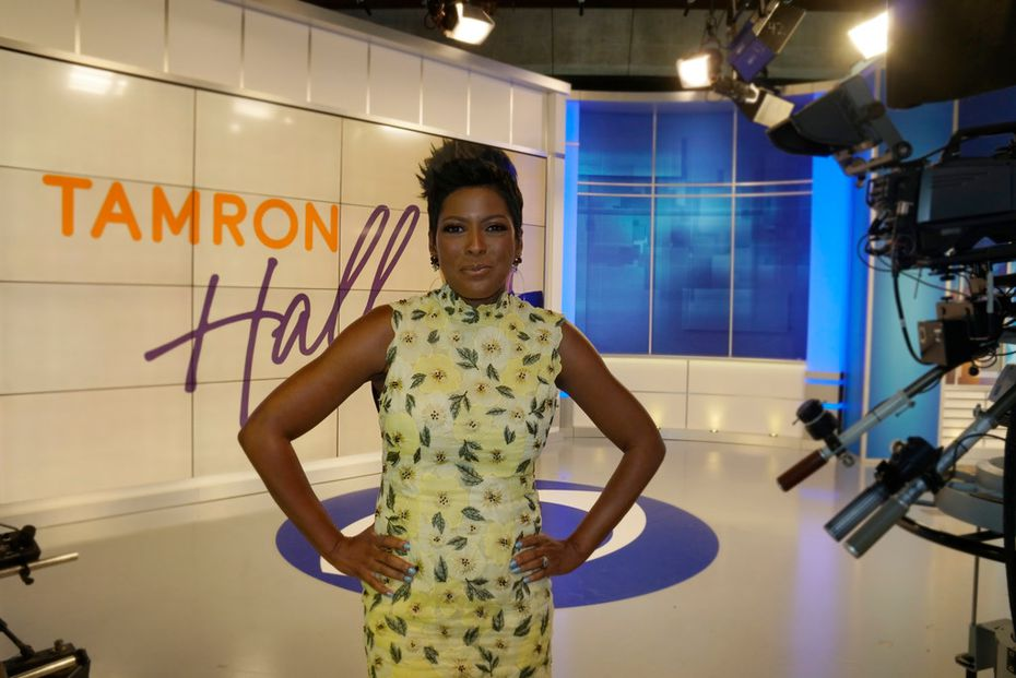 One of Tamron Hall's earliest jobs in TV was at the CBS affiliate in Fort Worth. She returned to the station to do interviews in advance of the premiere of her show 'Tamron Hall,' airing Sept. 9, 2019.