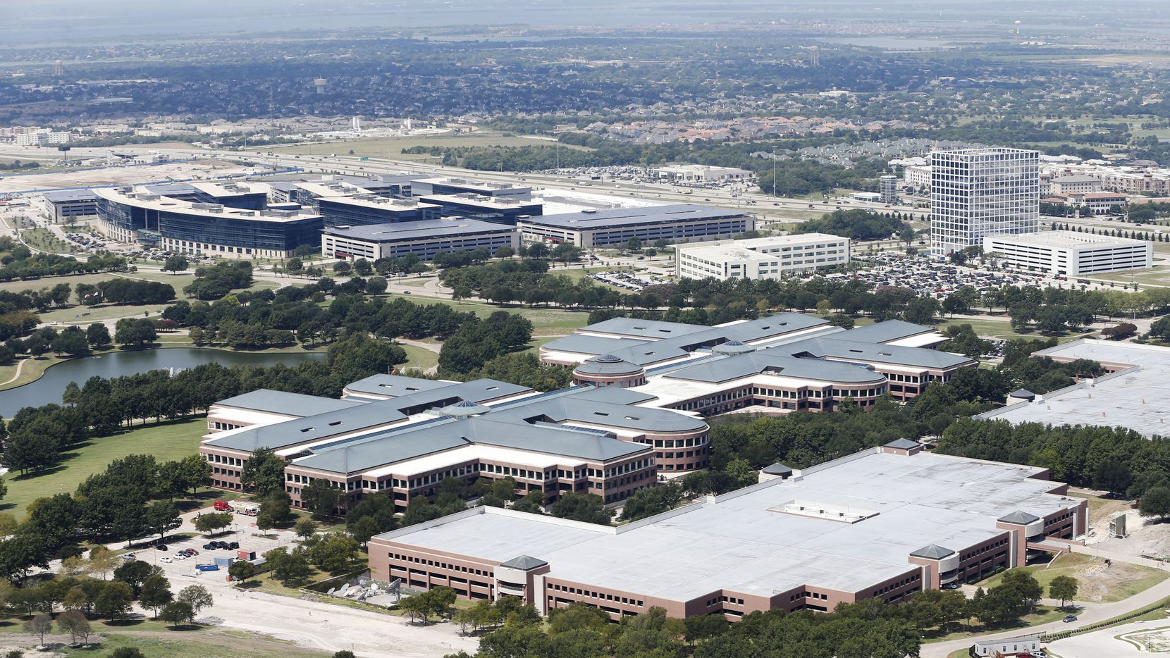 Trammell Crow wants to build a four-tower office project on Legacy Drive across from J.C. Penney's old office campus.
