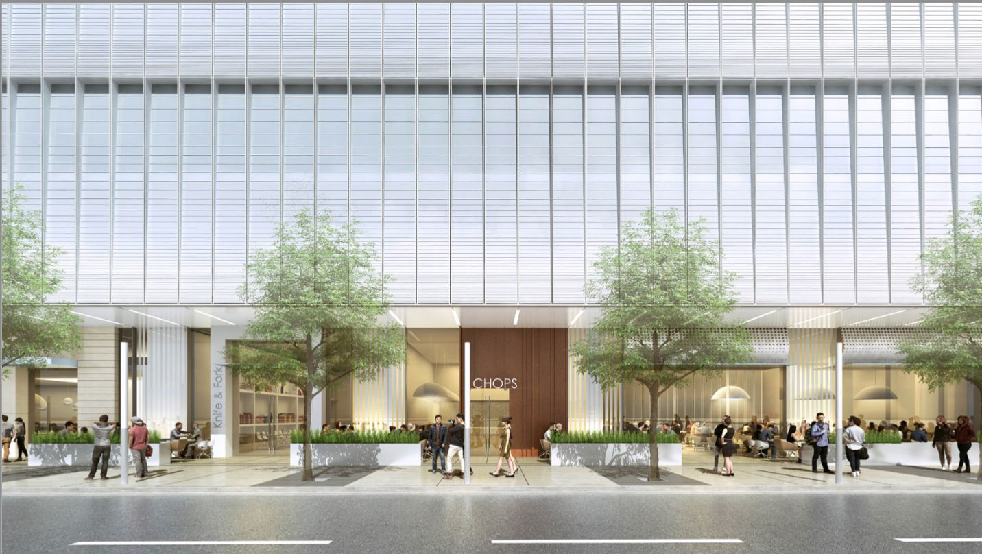 About 26,000 square feet of retail space is being added to the 33-year-old downtown skyscraper.