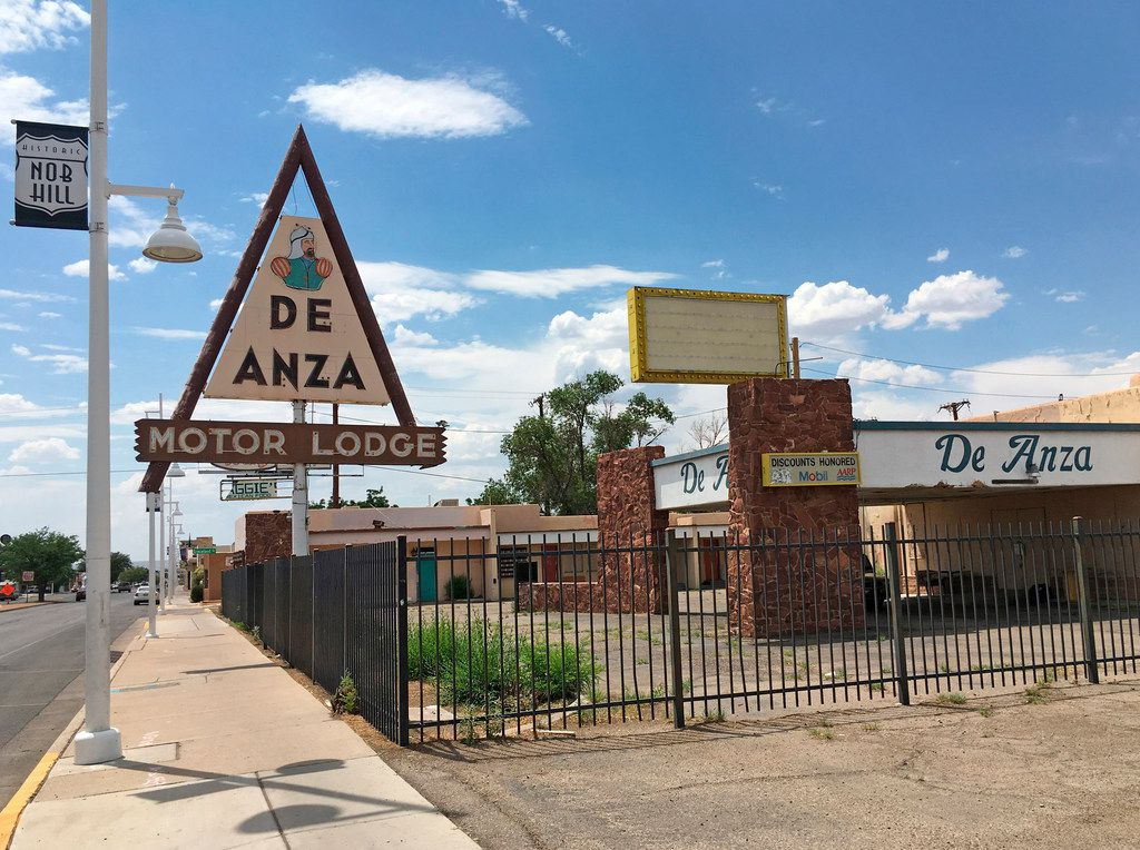 The De Anza Motor Lodge sits along Route 66 in Albuquerque, N.M. It was listed in the Green Book as a safe place for black travelers to stay during segregated times.