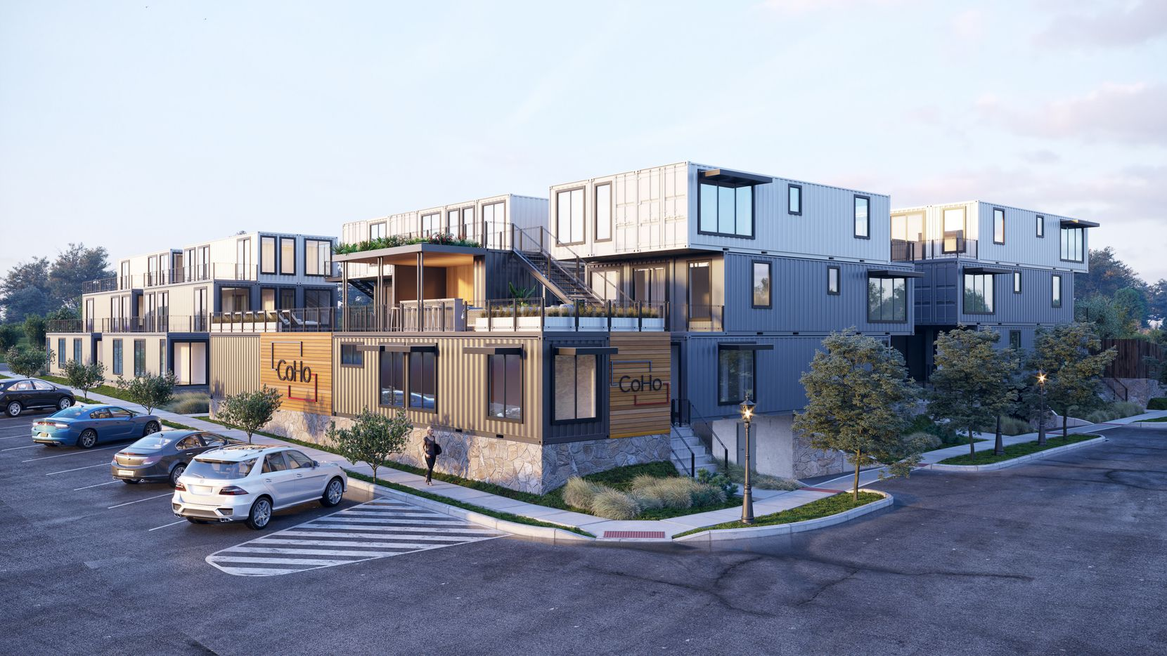 The 34-unit CoHo apartments south of downtown Fort Worth will be constructed out of shipping containers.