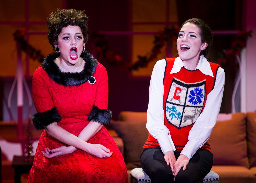 Janelle Lutz performs as Judy Garland and Sarah Elizabeth Price plays Liza Minnelli in 'A Very Judy Christmas,' an original show written and directed by B.J. Cleveland for Uptown Players at the Kalita Humphreys Theater.