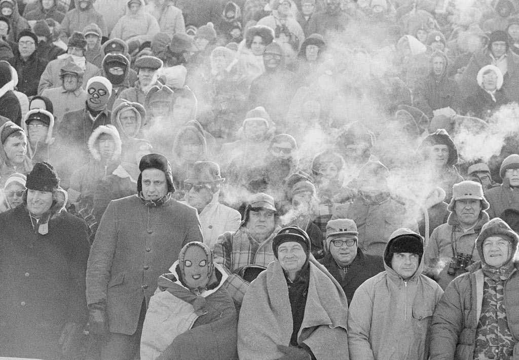 Fans watch the Green Bay Packers play the Dallas Cowboys in the NFL Championship game in Green Bay, Wisc. Comparisons to the legendary 1967 Ice Bowl are inevitable when the mercury dips below zero at Lambeau Field.