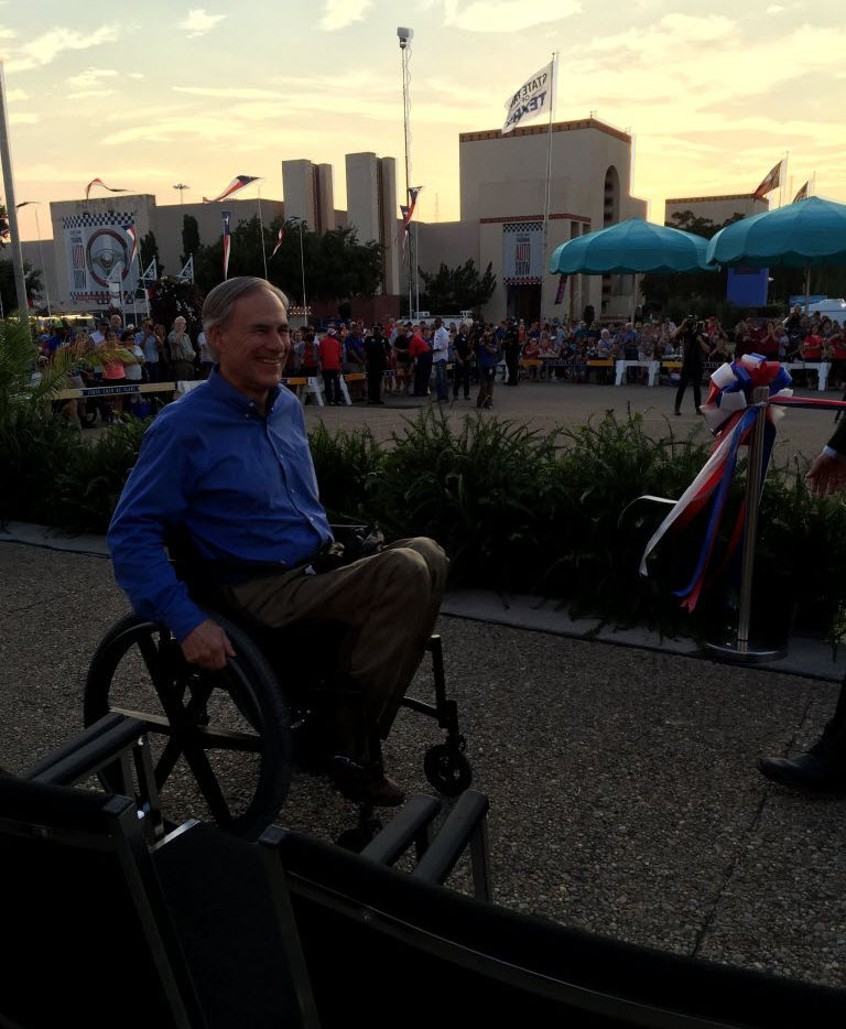 Gov. Greg Abbott visited the State Fair of Texas the night it opened.