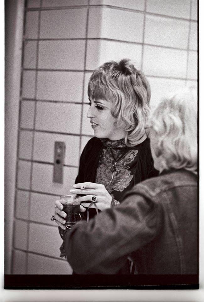 Barbara Cope backstage at Memorial Auditorium in 1968