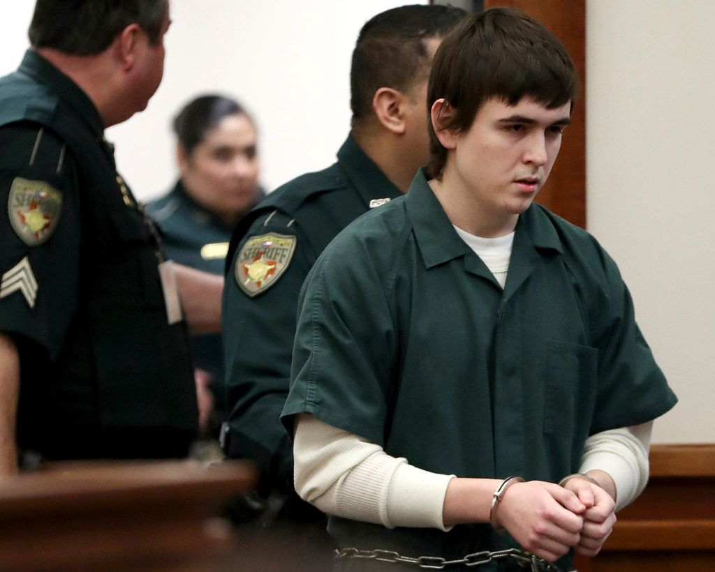 Dimitrios Pagourtzis, the Santa Fe High School student accused of killing 10 people in a May 18 shooting at the high school, was escorted by Galveston County Sheriff's Office deputies into the jury assembly room last month for a change of venue hearing at the Galveston County Courthouse.