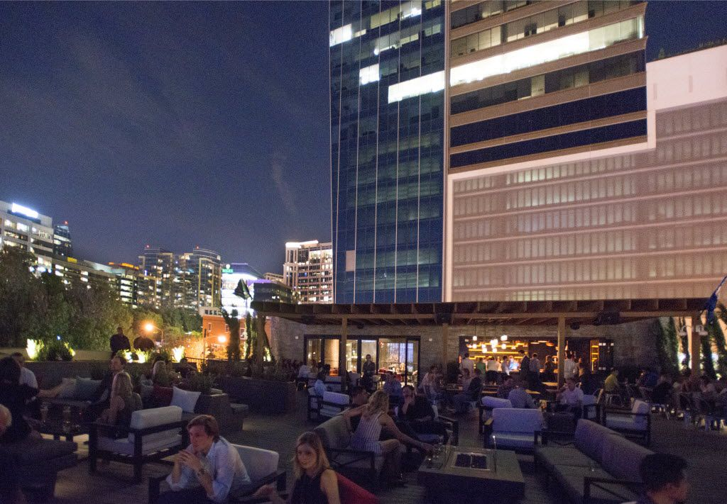 Rooftop terrace and bar at Happiest Hour