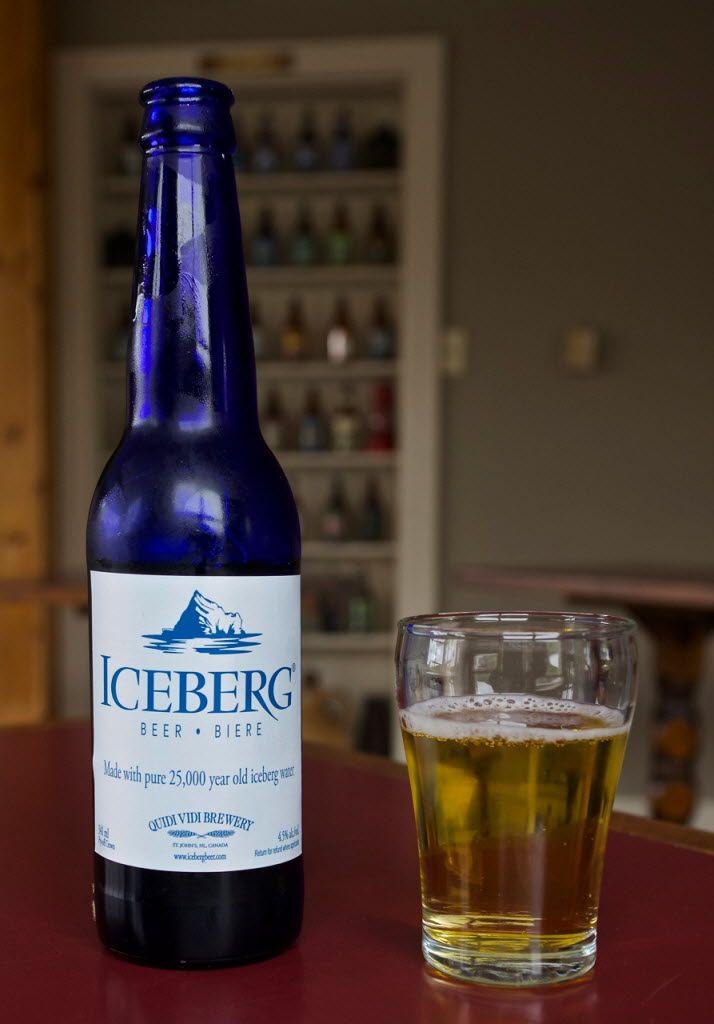 The Quidi Vidi Brewery makes a very popular Iceberg Beer using only the melted water from icebergs. The cobalt blue bottles are a popular souvenir.
