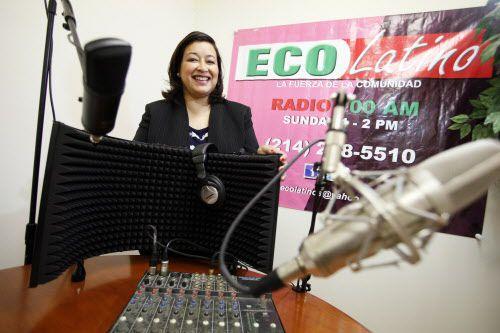 Marina Ruiz, anfitriona y directora de programación de Eco Latino, en Dallas