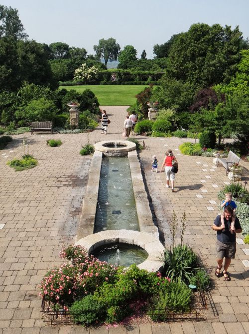 A short bike ride northeast of downtown, you can enjoy refreshing views from the Rose Tower at free-admission Olbrich Botanical Gardens.