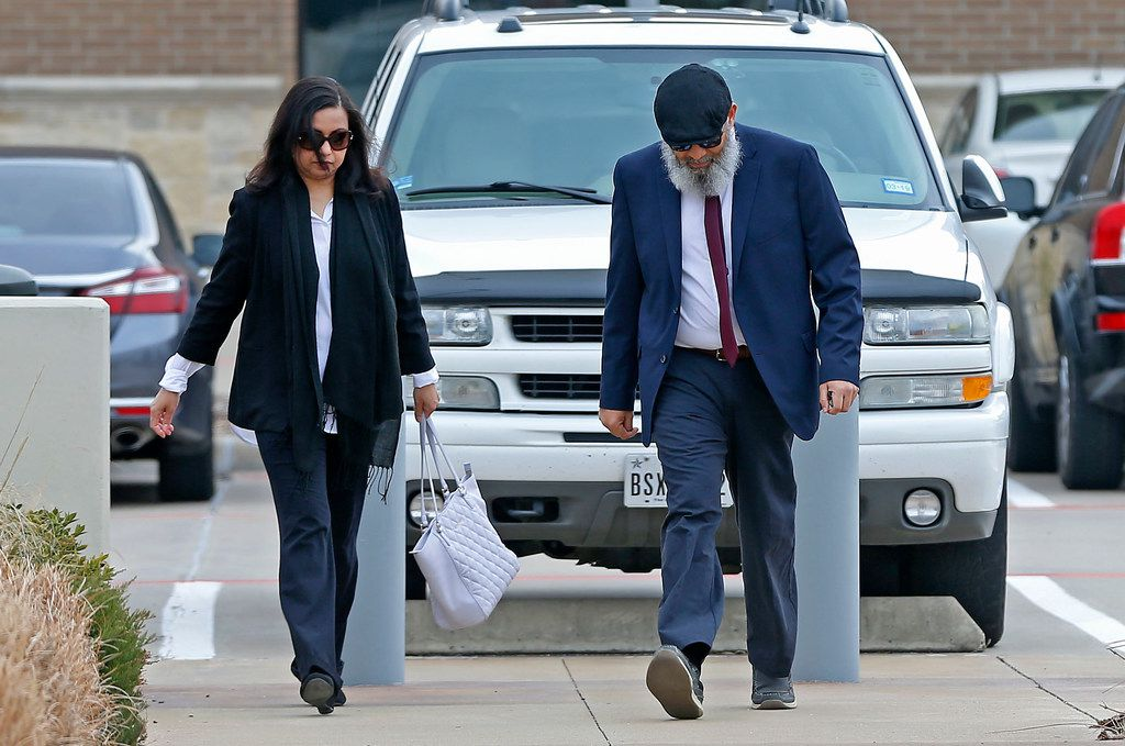 Mohommad Hasnain and wife Sumaiya Ali arrived at U.S. District Court in Plano for their sentencing hearings on Feb. 13, 2018.