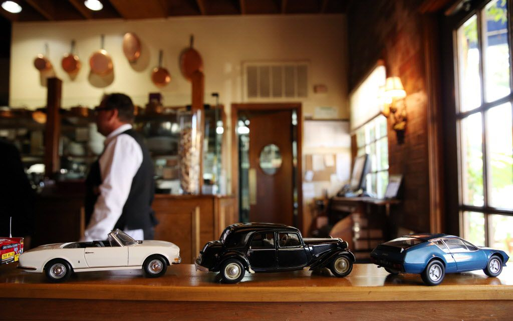 Bernard Tronche's collection of French toy cars are part of the decor.
