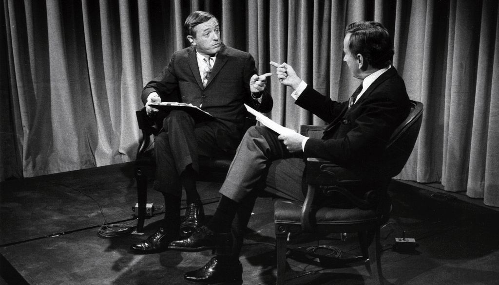 A scene from Best of Enemies, showing at the USA Film Festival.