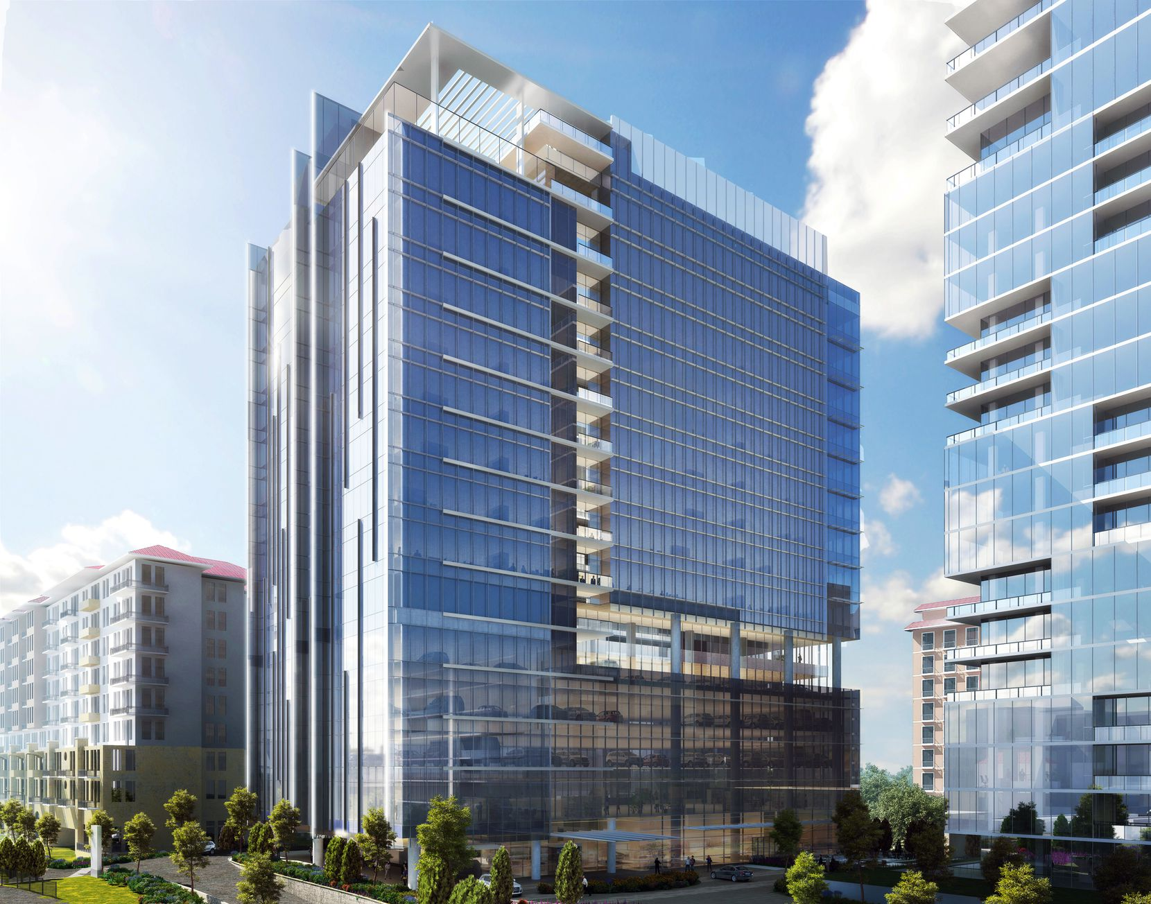 The 3-building project will include a 19-story office tower.
