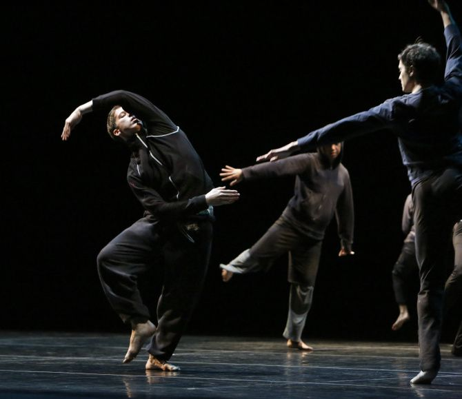The dress rehearsal of the Stephen Petronio Company dance at Winspear Opera House, photographed November 16, 2012. Photo is from The Architecture of Loss segment. It is part of the TITAS series.